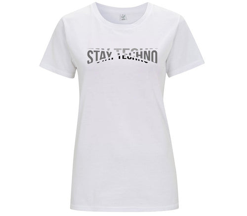 STAY TECHNO FRAGMENTED COLOR T-SHIRT DONNA - T-shirt by Fol The Brand