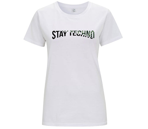 STAY TECHNO CUT MODE/ MILITARY T-SHIRT DONNA
