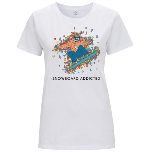 Sport Addicted: Snowboard - T-shirt Donna - T-Shirt by Fol The Brand