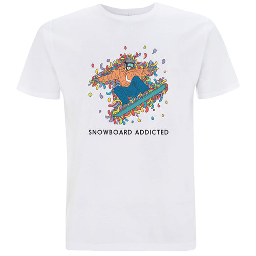 Sport Addicted: Snowboard - T-shirt Uomo - T-Shirt by Fol The Brand
