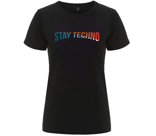 STAY TECHNO COLOR T-SHIRT DONNA - T-shirt by Fol The Brand
