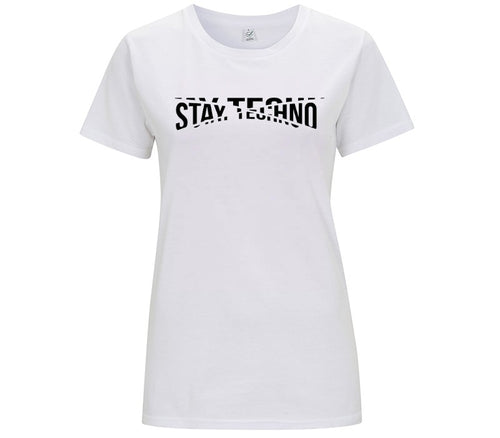 STAY TECHNO FRAGMENT BASE T-SHIRT DONNA - T-shirt by Fol The Brand