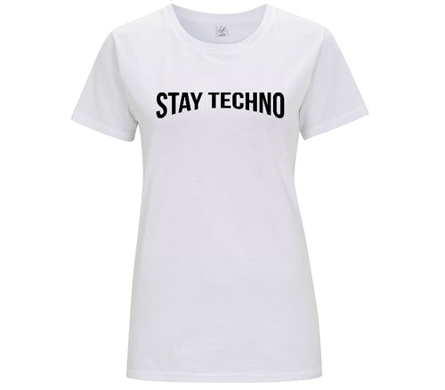 STAY TECHNO BASE T-SHIRT DONNA - T-shirt by Fol The Brand
