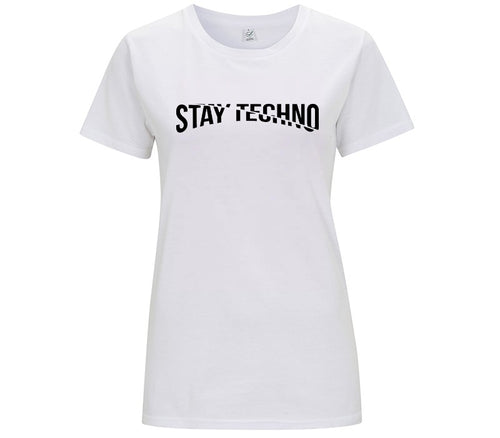 STAY TECHNO CUT MODE T-SHIRT DONNA - T-shirt by Fol The Brand