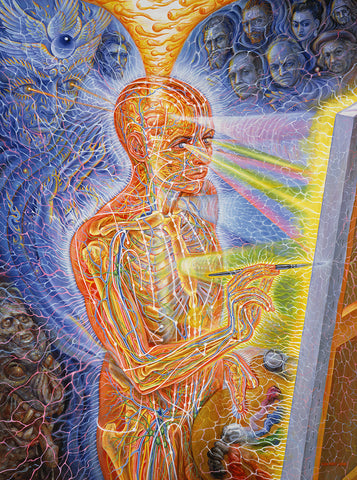 Painting by Alex Grey