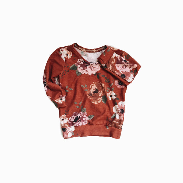 Mini pullover in Dusty Cedar