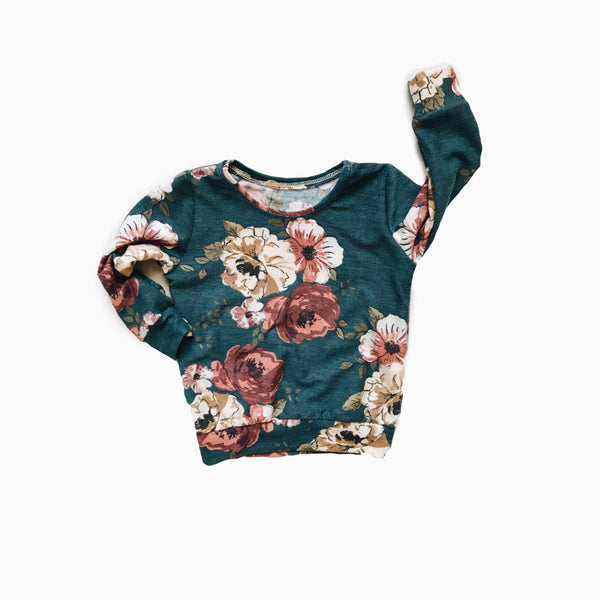 Mini pullover in Dusty Teal