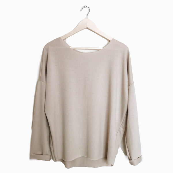 Slouch Pullover in Natural