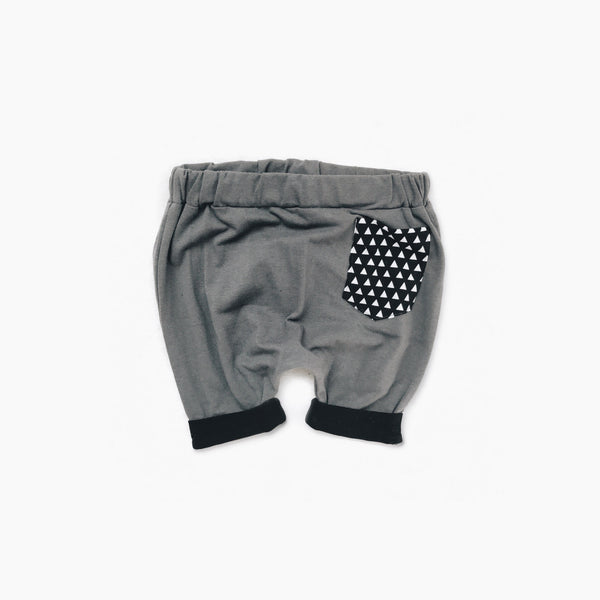 Dusty Blue/Gray Pocket Shorts