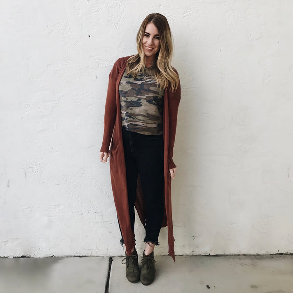 Camo Boxy Crop Top