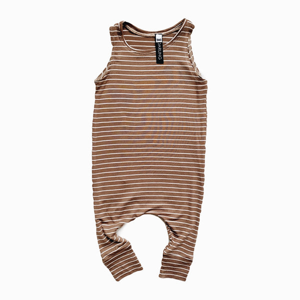 Playsuit in peanut stripe