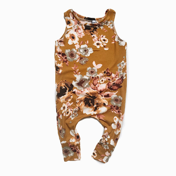 playsuit in Ochre floral
