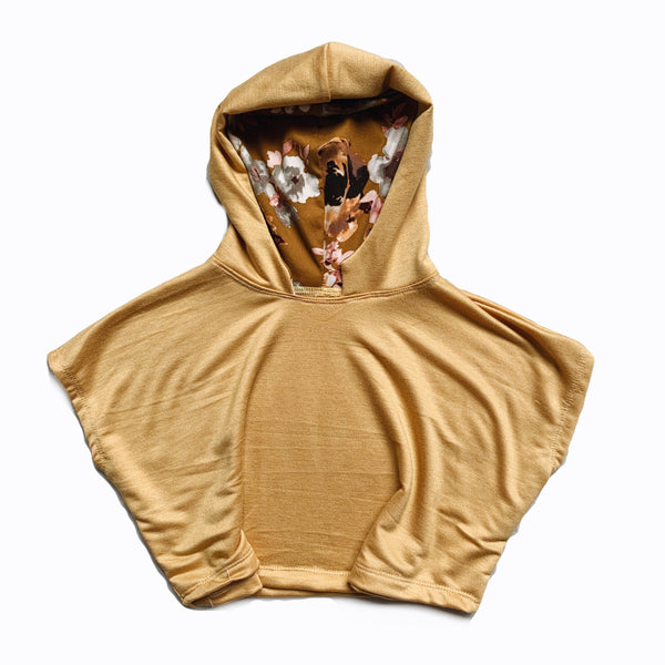 Blonde Ochre floral Poncho