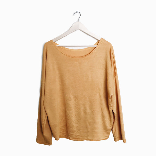 Slouch Pullover in blonde
