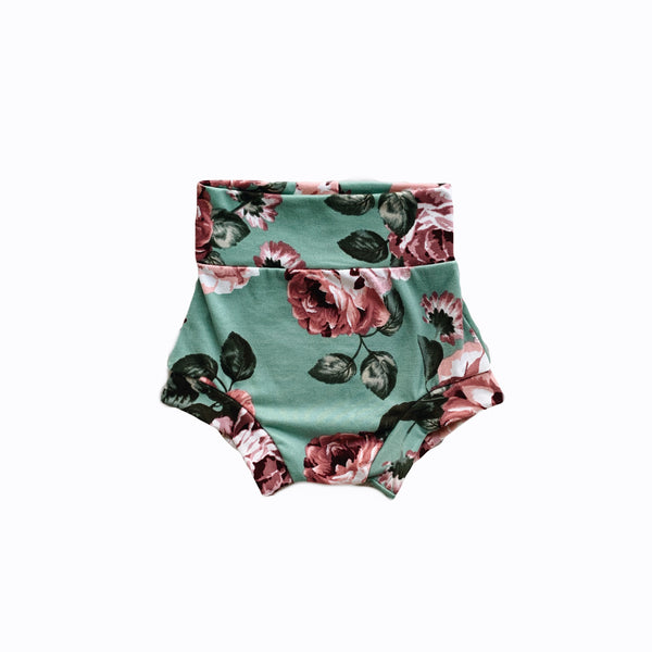 High Waisties in Sage Floral