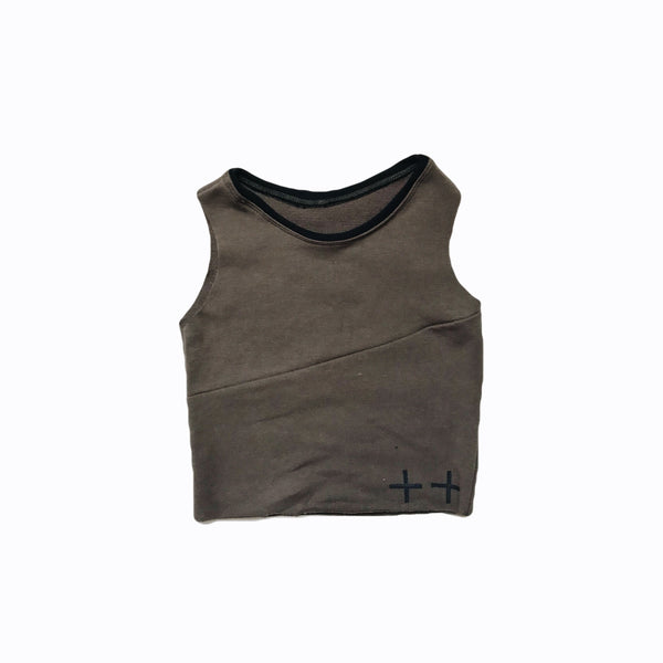 sliced tank in walnut (organic)