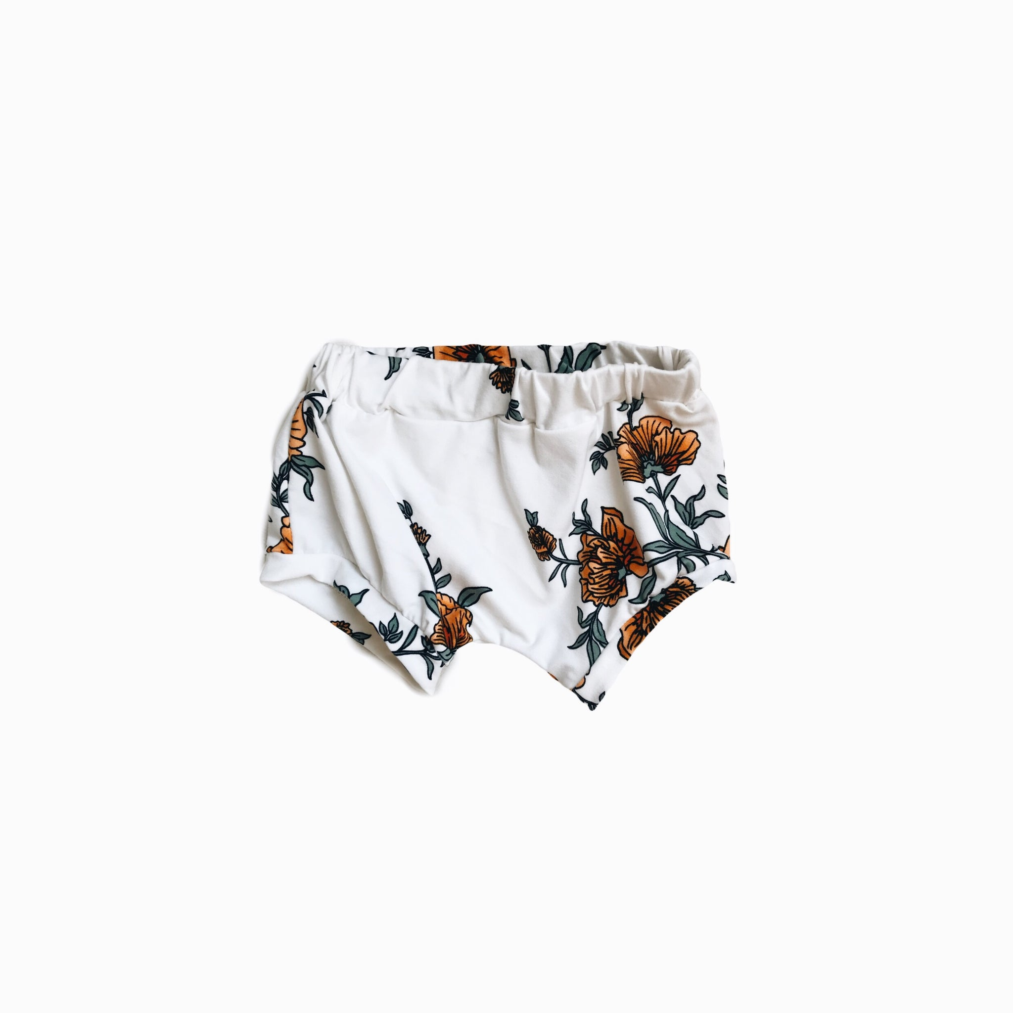 shorties in yellow floral