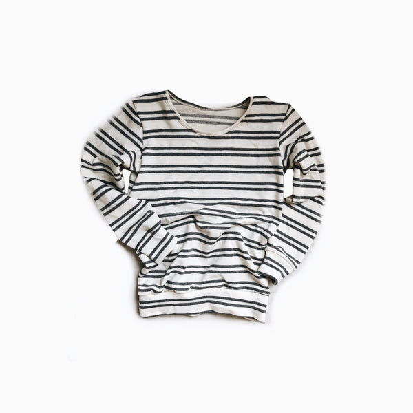 Mini pullover in Ash stripe