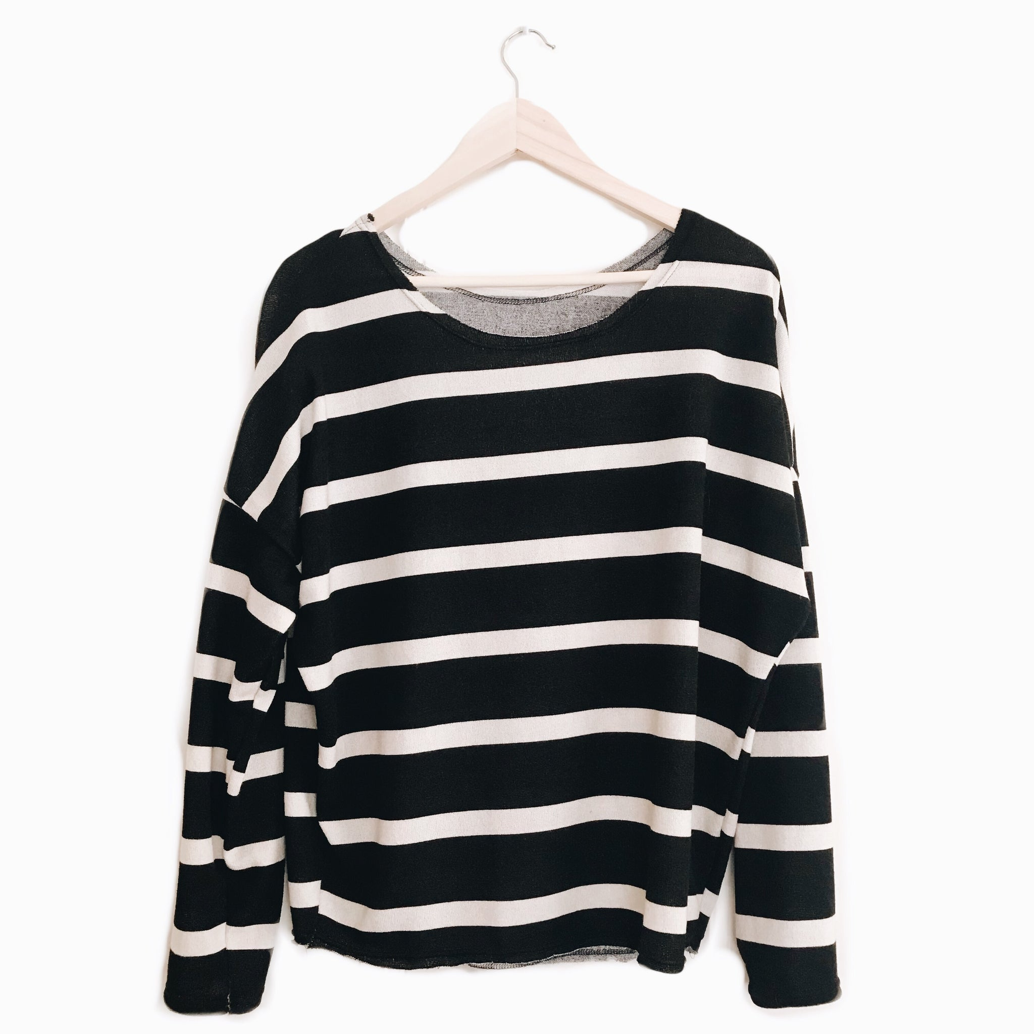 Slouch Pullover in Stripe