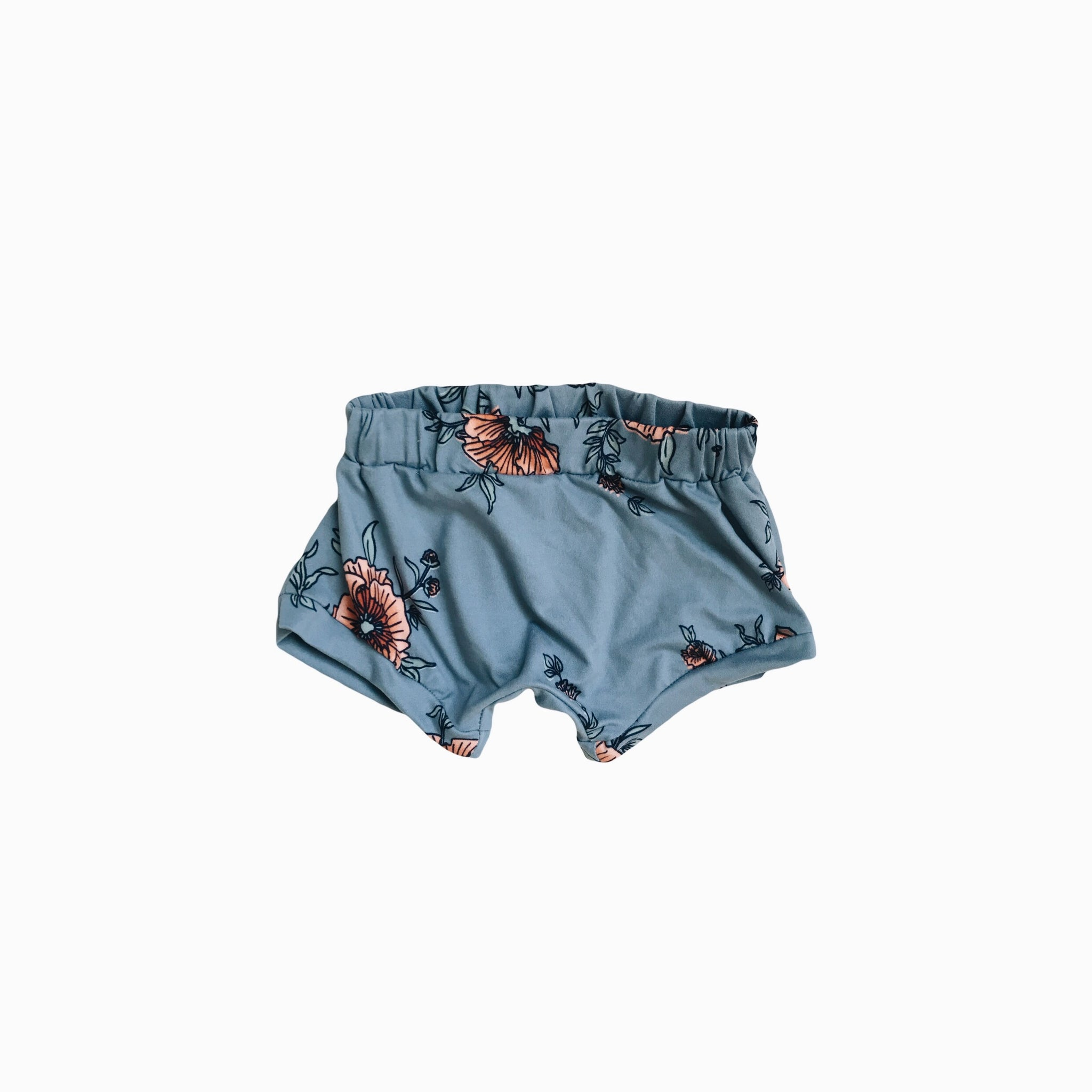 shorties in cobalt floral