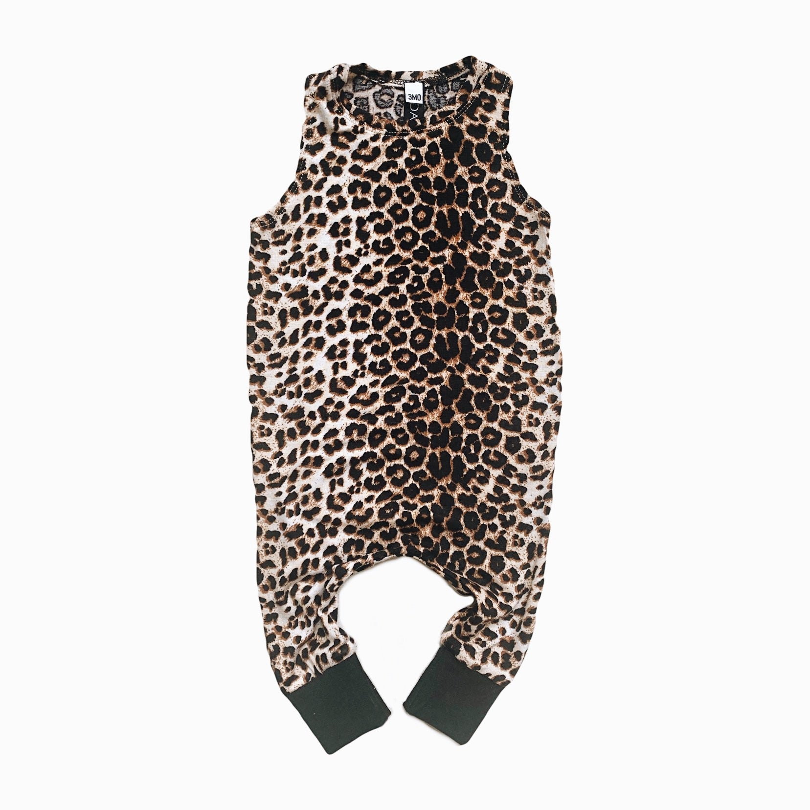 playsuit in wild leopard