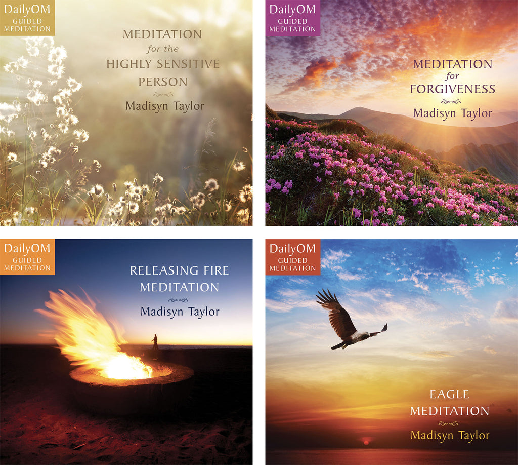 DailyOM Guided Meditation Gift Set (4 CD Gift Set)