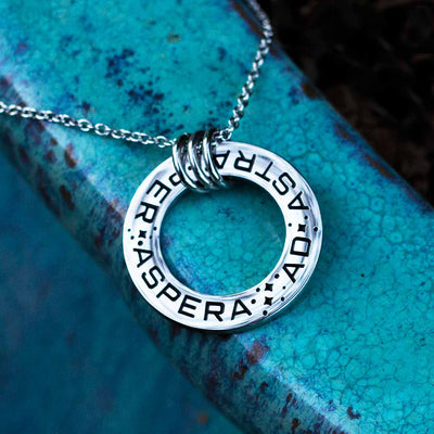 Ad Astra Per Aspera Necklace