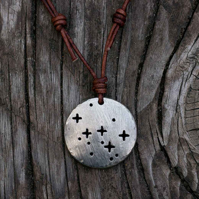 Cassiopeia constellation necklace - science & astronomy jewelry. Great gift for a star gazer, teacher, or astronomer.