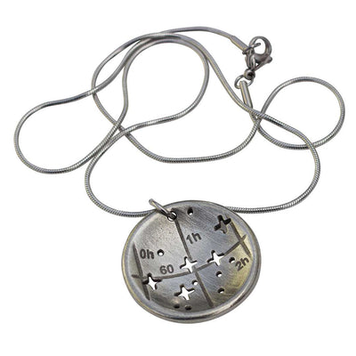 Cassiopeia constellation necklace - science & astronomy jewelry. Great gift for a star gazer, teacher, or dog lover.