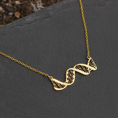 DNA Necklace - Horizontal Double Helix