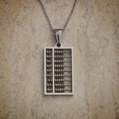 Abacus Necklace - math jewelry with working steel beads. Perfect gift for a mathematician or mathematics student or teacher!