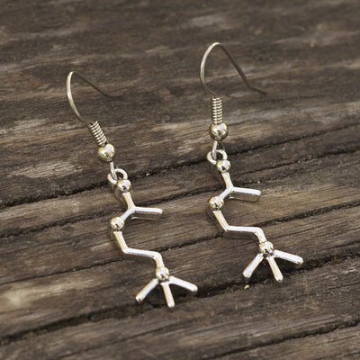 Neurotransmitter Molecule Earrings
