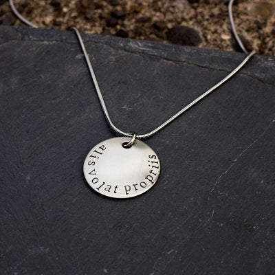 "Alis Volat Propriis Necklace - ""She Flies With Her Own Wings"" in Latin"