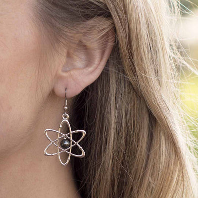 Atomic Science Earrings - science jewelry for students of physics, biology, or anything related to the atom