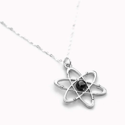 Atomic Science Necklace - physics and chemistry jewelry, great gift for a scientist, teacher, physicist, or chemist.