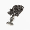 Bacteriophage Necklace - gunmetal chain / Science jewelry for biology students, biologists, and teachers