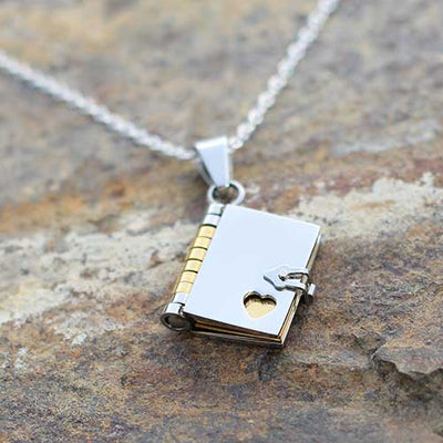 Book Necklace - jewelry gift for a writer, librarian, teacher, historian, or book lover