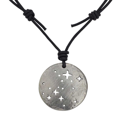 Canis Major constellation necklace - science & astronomy jewelry. Great gift for a star gazer, teacher, or dog lover.