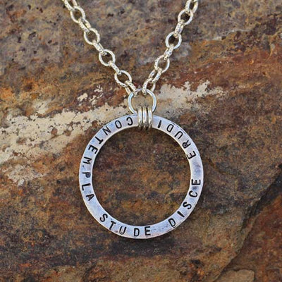 Knowledge Cycle Necklace -- beautiful jewelry for teachers and students of Latin