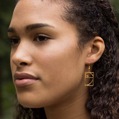 Fibonacci Earrings, based on the golden ratio. Great math jewelry for a student or teacher in mathematics.