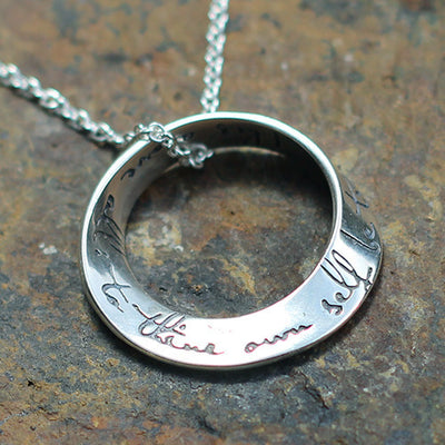 "Möbius Necklace ""To thine own self be true"""