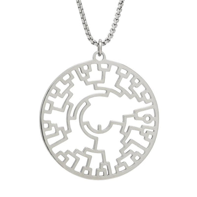 Phylogenetic Tree of Life Necklace: Darwin evolution science jewelry gift - silver version