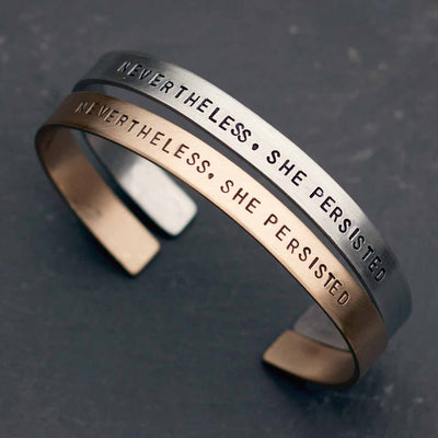 Nevertheless, She Persisted bracelet - jewelry for strong women, graduates, teachers, students, and all women who persist!