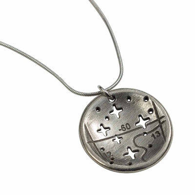 Southern Cross - Crux - constellation necklace - science & astronomy jewelry. Great gift for a star gazer, teacher, or astronomer.