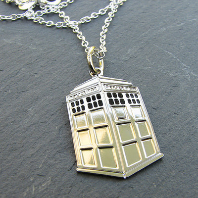 TARDIS Inspired Necklace