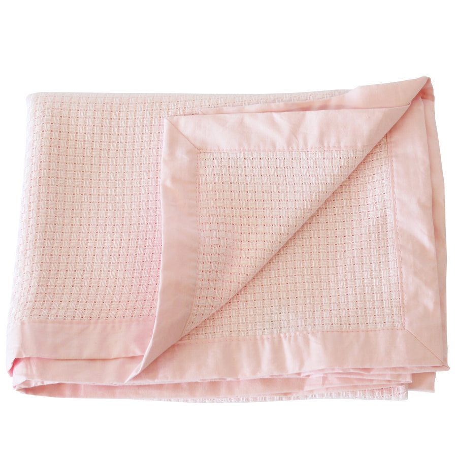 Little Softy : Pink Bamboo Baby Blanket Set