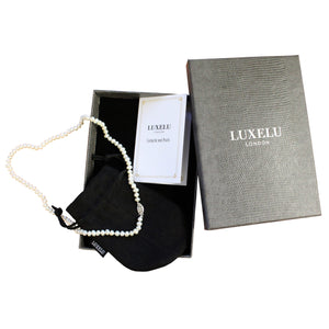 Luxelu London Collection : Mignon Dome Pearl Necklace