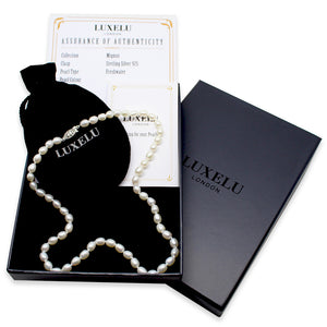 Luxelu London Collection : Mignon Drop Pearl Necklace