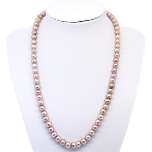 Luxelu London Collection : Classic Button Pearl Necklace