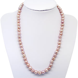 Luxelu London Collection : Classic Near Round Pearl Necklace